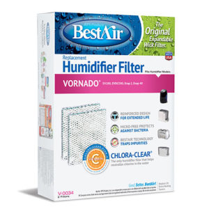 BestAir V-0034 Extended Life Humidifier Replacement Paper Wick For Vornado Humidifier